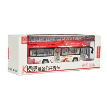 Детский игровой троллейбус MS1602A инерционный (Красный)