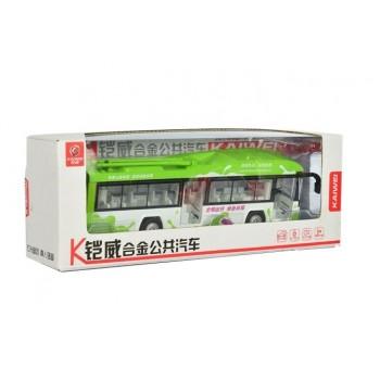 Детский игровой троллейбус MS1602A инерционный (Зеленый)