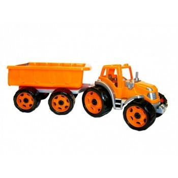 Детский трактор с прицепом 3442TXK, 2 цвета (Оранжевый)