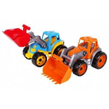 Детский игрушечный большой трактор 1721TXK с подвижными деталями (Оранжевый)
