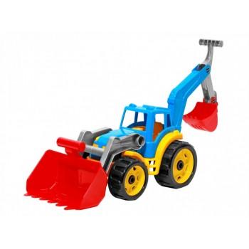 Детский игрушечный трактор 3671TXK с двумя ковшами  (Разноцветный)