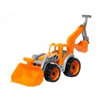 Детский игрушечный трактор 3671TXK с двумя ковшами  (Оранжевый)