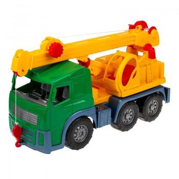Игрушечная машинка Кран 0572 с выдвижной стрелой  (Зеленый)