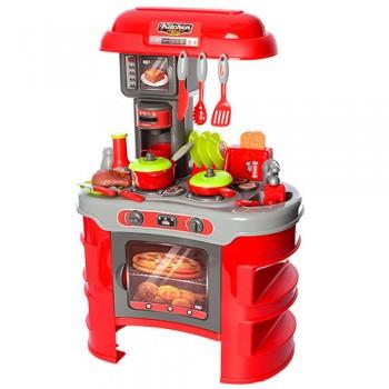 Детская игрушечная кухня 008-908 с посудой (Красный)