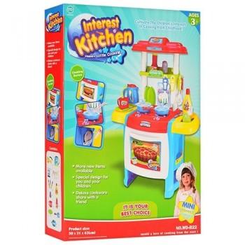 Детская игровая кухня WD-B22 голубая