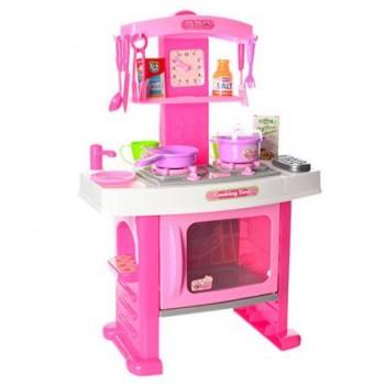 Детская игрушечная кухня с плитой и духовкой 661-51 аксессуары в комплекте