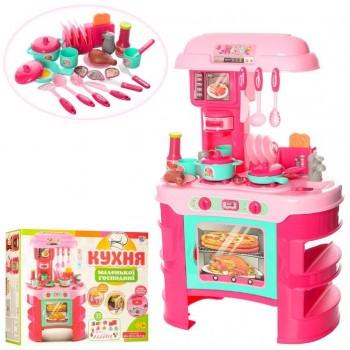 Детская игрушечная кухня 008-908 с посудой (Розовый)