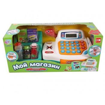 Игровой кассовый аппарат 7254 с корзиной продуктов