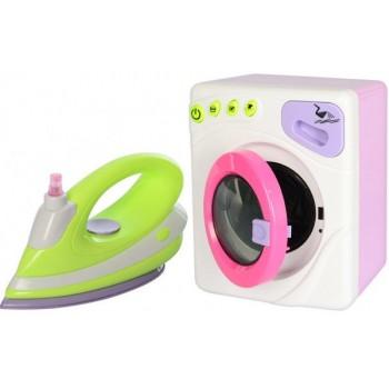 Детский игровой наборбытовойтехники6999B стиральная машинка вращает барабан