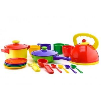 Детский игровой набор посуды 71009, 17 предметов