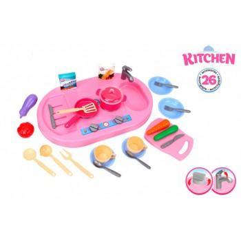 Детский игровой набор Кухня 6177TXK, 26 предметов