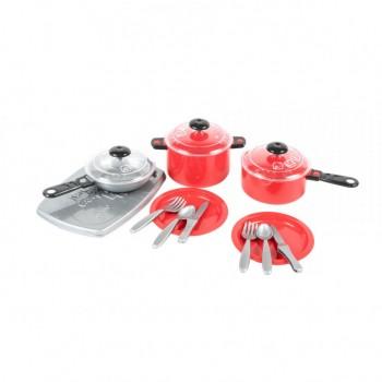 Детский игровой набор посуды 348OR пластиковый (Красный)