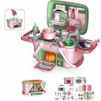 Детская игрушечная кухня 13M05 в чемодане