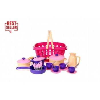 Детский игровой набор посуды 4449TXK, 26 элементов
