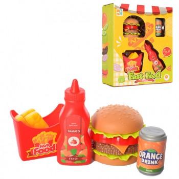 Детский игровой набор продуктов Фастфуд 699-24 с кетчупом