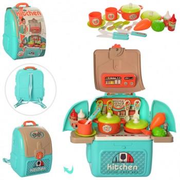 Детский игровой набор Кухня 008-966A с продуктами