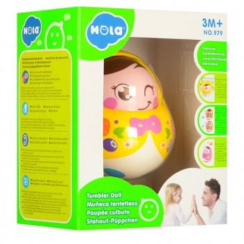 Детская неваляшка 979 с подвижным лицом (Желтый )