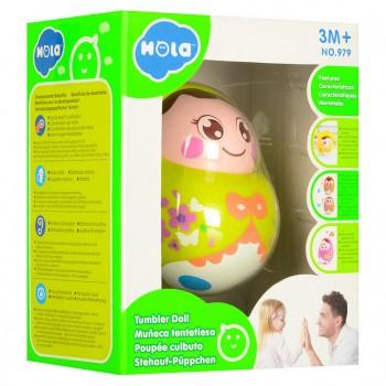Детская неваляшка 979 с подвижным лицом (Зеленый )