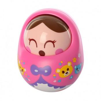 Детская неваляшка 979 с подвижным лицом (Розовый )