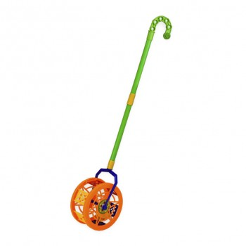 Детская  каталка-колесо 777-8  длинаручки-43см (Оранжевый)