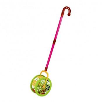 Детская  каталка-колесо 777-8  длинаручки-43см (Зелёный)