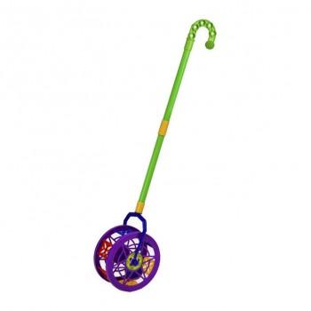 Детская  каталка-колесо 777-8  длинаручки-43см (Фиолетовый)