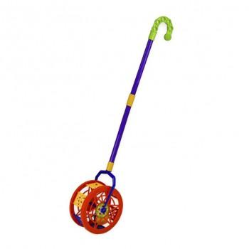Детская  каталка-колесо 777-8  длинаручки-43см (Красный)