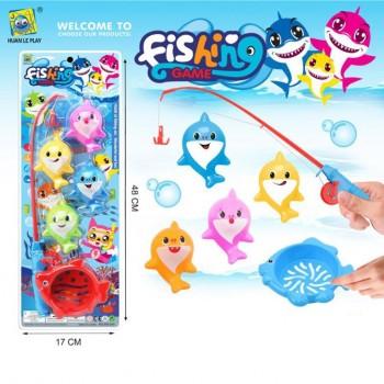Детская игра Рыбалка 555-240 удочка с катушкой