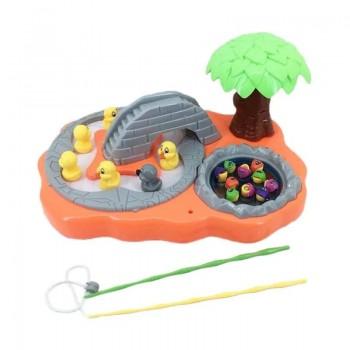 Игровой набор Рыбалка 685-26A с уточками (Оранжевый)