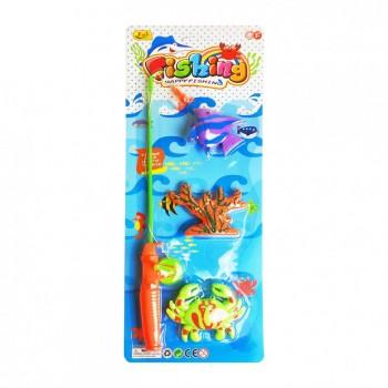 Игровой набор Рыбалка 3316К-1 магнитная  (Оранжевый)