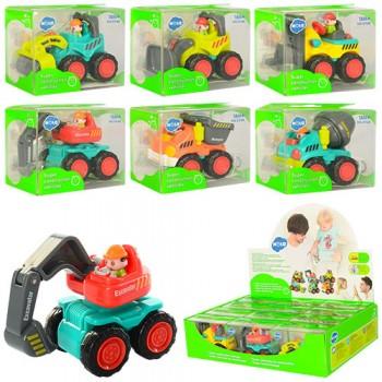 Детская игрушечная Стройтехника 3116B, 6 видов