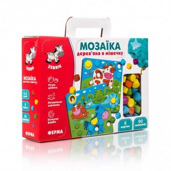 Детская мозаика с картинками ZB2002 деревянная  ( Ферма ZB2002-01)