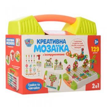 Детская мозаика в чемодане M 5480, 129 деталей (Зеленый)