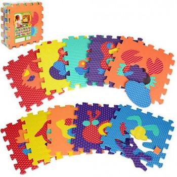 Детский коврик мозаика Животные M 2616  материал EVA