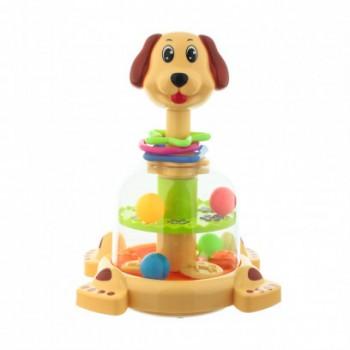 Детская юла Собака SL83060 с шариками