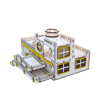 Игрушечный гараж для машинок. Гоночная база G001 деревянный