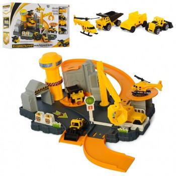 Игровой набор Стройтехника с гаражем M 5509 с краном