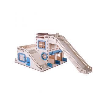 Игрушечный гараж для машинок. Мега трек G003 деревянный