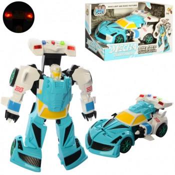 Детский трансформер D622-H04 робот+машинка (Голубая )