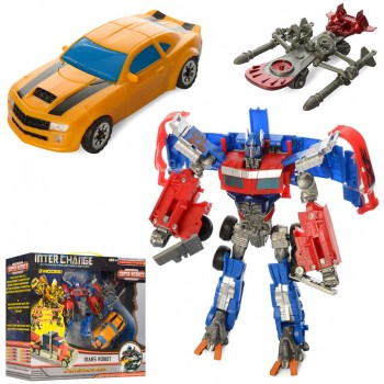 Детский набор трансформеров, 2 робота в 1м наборе 4083 с оружием