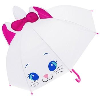 Зонт детский UM52610 трость (Котик белый)