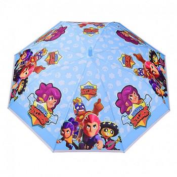 Зонт детский UM523 трость (Голубой)