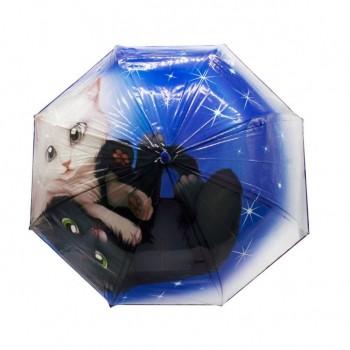Зонт детский UM530 трость (Котик)