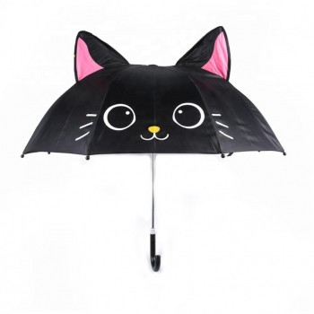 Зонт детский UM52610 трость (Котик чёрный)