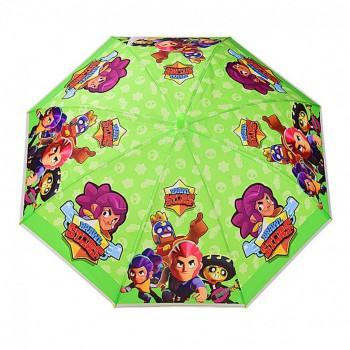 Зонт детский UM523 трость (Салатовый)