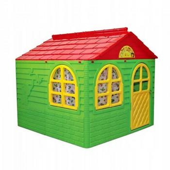 Детский игровой Домик со шторками 02550/3 пластиковый