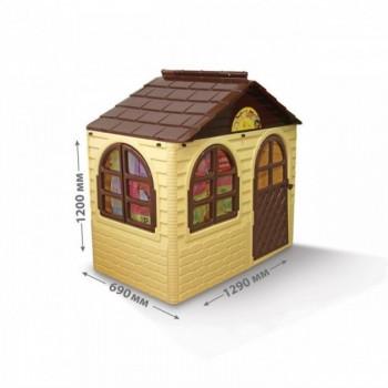 Детский игровой Домик со шторками 02550/12 пластиковый