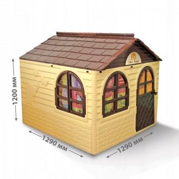 Детский игровой Домик со шторками 02550/2 пластиковый