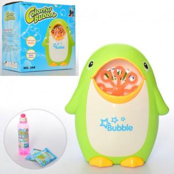 Генератор мыльных пузырей Пингвин 348 с жидкостью для мыльных пузырей
