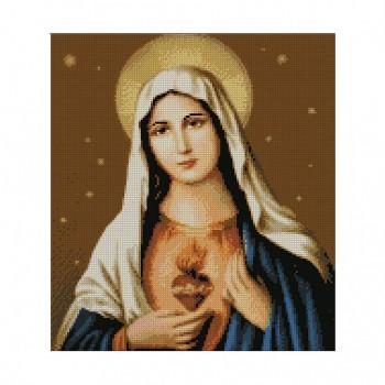 "Алмазная мозаика. Strateg FA10134 ""Непорочное сердце Марии"""